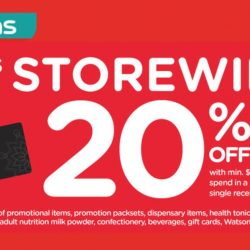 Watsons: Members' Only Sale - Storewide 20% OFF with Min. $38 Nett Spend