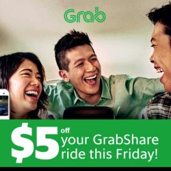 Grab: $5 OFF Your GrabShare Ride Today!
