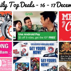 BQ's Daily Top Deals: Mega Christmas Expo by Megatex, BHG Jurong Opening Special, $5 OFF Grab Rides, Jetstar Weekend Frenzy Sale, Marvel Limited Edition EZ-Charms & EZ-Link Cards & 1-for-1 Main Courses & Beverages at The King Louis Grill & Bar!