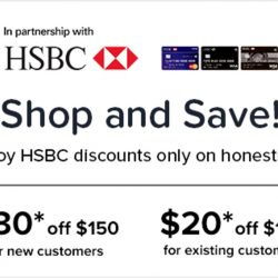 Honestbee: Coupon Code for Up to $30 OFF with HSBC Credit Cards