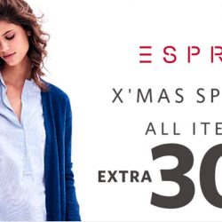 Esprit: Xmas Special Sale with Extra 30% OFF Storewide!