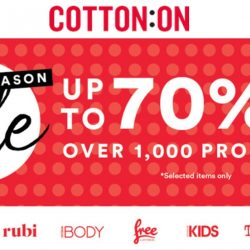 Cotton On: End Season Sale Up to 70% OFF Over 1,000 Products In Stores & Online!