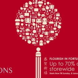 Robinsons: Chinese New Year Sale Up to 70% OFF + Additional Up to 20% OFF for Robinsons Cardmembers