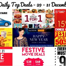 BQ's Daily Top Deals: CNY Sales at Spotlight, Phoon Huat, Forever 21, Robinsons, The Singapore Mint Lunar Fair 2017, Jean Perry Warehouse Sale, Downtown East 1-for-1 Deals, SQ KrisFlyer Exclusive Fares & More!