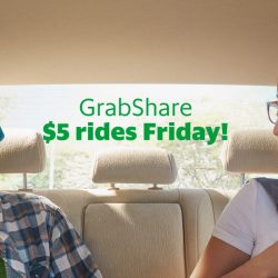Grab: $5 GrabShare Rides Today Only!