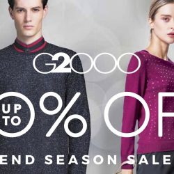 G2000: End Season Sale Up to 50% OFF + Additional 15% OFF Min. 3 Pcs for DBS/POSB & wt+ Members