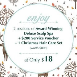 [Oriental Hair Solution] Spend only $18 and you get 2 sessions of Award-Winning Deluxe Scalp Spa, including a $200 Service Voucher + 1