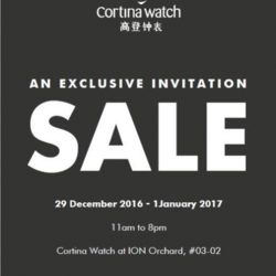 [Cortina Watch] SALE. Up to 70% ION Orchard