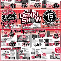 [Best Denki] The Denki Show is back at VivoCity! Redeem up to $30,000 BEST Vouchers when you spend with us! Get