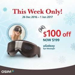 [OSIM FOCUS] With mood light, music, warmth, airbag and vibration massage, the amazing OSIM uGalaxy eye massager will make your eyes sparkly