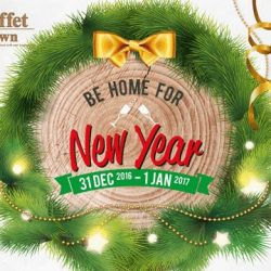 [Buffet Town] Usher into the New Year of 2017 at Buffet Town International Buffet Restaurant. Tuck into a glorious holiday-themed buffet