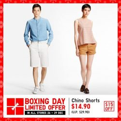 [Uniqlo Singapore] Enjoy $15 off your all-time favourite Chino Shorts!Shop more Limited Offers: http://s.uniqlo.com/2hfD0Nz