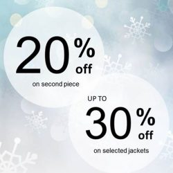 [ColdWear] Our Wonderful Winter Deal is ending soon! Last chance to enjoy 20% off 2nd piece. Promotion ends on 2 Jan