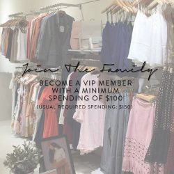 [The Closet Lover] Join our family and become a VIP member when you spend a min. of $100 (Usual required spending: $150) over
