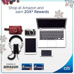 [Citibank ATM] It gets more rewarding this festive season. Shop at Amazon with the Citi Rewards Card and get 20X* Rewards. Don'