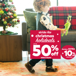 [Stride Rite/Petit Bateau] Stride Rite CHRISTMAS HOLIDEALS up to 50% OFF kids shoes! Members exclusive offer with ADDITIONAL 10% OFF on select styles.