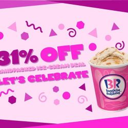[Baskin Robbins] Celebrate this New Year Eve with 31% off for any handpacked ice cream for today and tomorrow!