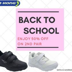 [Dr Kong] Have you done the shopping for school? Promotion is going on at all outlets, don't forget to pick the