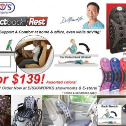 [Ergoworks] Special Promotion! Dr. Ho's Perfectback Rest - 2 For $139! (U.P. $199.80) Assorted colors!Limited stock! While stock