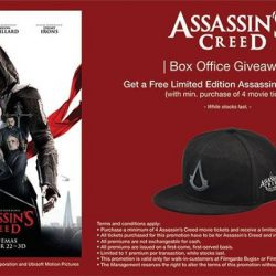[Filmgarde Cineplex] Box office giveaway! Purchase a minimum of 4 tickets to ASSASSIN'S CREED at the box office and receive a