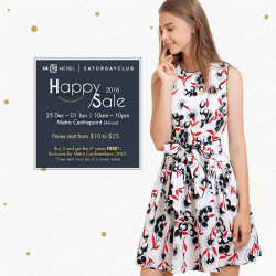 [Metro] Shop that perfect Christmas party look at SaturdayClub's first ever Happy Sale! With more than 300 styles on sale