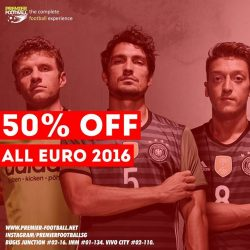 [Premier Football Singapore] 50% off all Euro 2016 jersey and merchandise including the Germany 2016 Away Jersey. https://goo.gl/uqhJiu available both