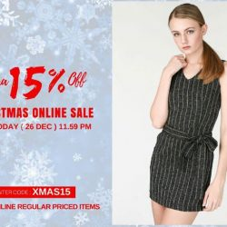 [MOSS] HURRY! CHRISTMAS ONLINE SALE END SOON!Extra 15% Off Christmas Sale end Today ( 26 Dec ) 11.59 pmEnter code :
