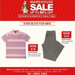 [Hush Puppies Singapore] Get these star buys at the warehouse sales now!
