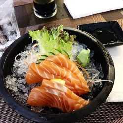 [ISURAMUYA JAPANESE RESTAURANT & MARKET PLACE] For all fans of sashimi, our primo salmon cuts always delivers. Choose from cuts of fatty salmon belly, tuna or