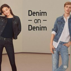 [Uniqlo Singapore] Here's how to rock that denim on denim look. Stick to darker shades for an overall edgy look, and