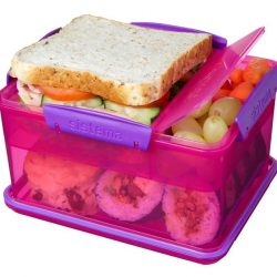 [Kitchen + Ware] Made in New Zealand BPA-Free Multi-compartment Lunch Tubs from Sistema! Choose from pink, purple or green. Grab them