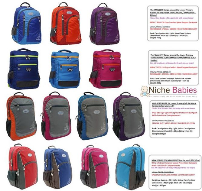 [Nichebabies] IMPACT - A Ergo-Comfort Spinal Protection School Bag! ++++ DO  U KNOW? ++++ IMPACT is the ONLY multi-awarded ergonomic brand founded -   </li> <li class=