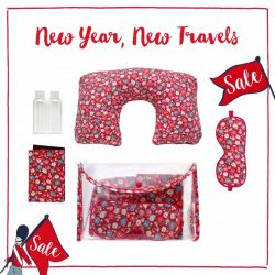 [Cath Kidston Singapore] Don't fly out of town before you bag these deals! Our Essential Travel Gift Sets in Confetti Daisy and
