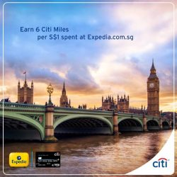 [Citibank ATM] Earn 6 Citi Miles for every S$ 1 spent with your Citi PremierMiles Card when you book your holiday at