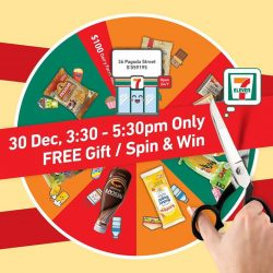 [7-Eleven Singapore] 3 days to our Official Store Launch of our Pagoda Street store! Save the date: 30 Dec 2016 and join