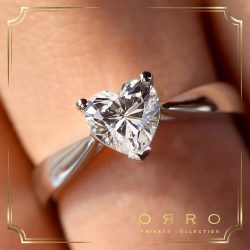 [ORRO Jewellery] A ring bejewelled with brilliance & a ♡hearts♡ cut jewel as the object of every women's desire.Exclusively available at