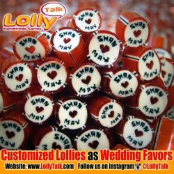 [Lolly Talk] LollyTalk's customized lollies as Wedding favours. We provide customization for special occasions such as wedding, birthday, baby showers, as