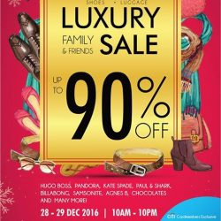 [The Fashion Gallery] DON'T MISS IT: Family & Friends sale will begin tomorrow! Delight in sales up to 90% off luxury products. #LivewithStyle