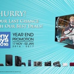 [Sony Singapore] Last minute present-hunting? Here's your final chance to grab Christmas gifts with our exclusive #SonyDays2016 promotions!From now
