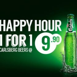 [O' Coffee Club] It's PARRRR-TTTTY time! Drop the bars and hit our stores! Our 1-For-1 Carlsberg going at $9.