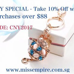 [Miss Empire] CNY SPECIAL - Take 10% off with purchases over $88! Simply enter code  at checkout! *Promotion is exclusively available online! #