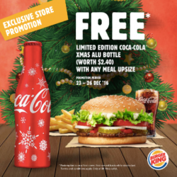 [Burger King Singapore] We're giving the gift of Coke this Christmas at BK Viva. To redeem the freebie, upsize your meal from