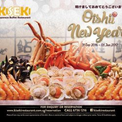 [Kiseki Japanese Buffet Restaurant] Get ready to ring in the New Year as Kiseki celebrates 2017 with a big bang! A harmonious blend of