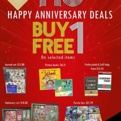 [MPH] MPH 110th Anniversary Buy 1 and Get 1 free promotion.*See poster for details. Terms and condition applies. While stocks