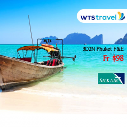 [WTS TRAVEL] LAST MINUTE DEAL NOT TO BE MISSED! 3D2N Phuket Free & Easy by Silk Air from ONLY $98!Package includes: - Return