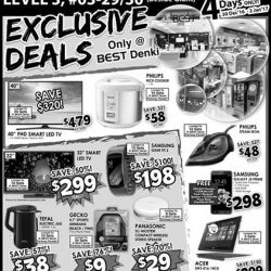 """[Best Denki] Grab these exclusive deals at Parkway Parade! Gecko 4.7"""" Sports Armband @ $9 (UP: $39) Tefal Electric Jug @ $38 (UP: $"""