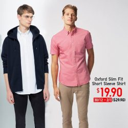 [Uniqlo Singapore] Whether it's a formal dinner or casual get-together this New Year, the 100% cotton Oxford Slim Fit Shirt