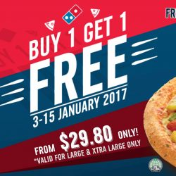 Domino's Pizza: Buy 1 Get 1 FREE Large or Xtra Large Pizza