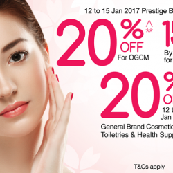 OG Singapore: 20% OFF Prestige Beauty Brands & General Brand Cosmetics, Toiletries & Health Supplements