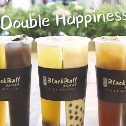 BlackBall 黑丸嫩仙草: NEW Double Happiness Twin Cup with Two Flavours at only $4.90!